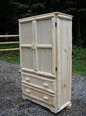 2 Drawer Log Armoire