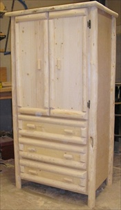 3 Drawer Log Armoire (with legs)