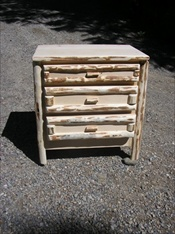 3 Drawer Log Nightstand