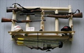 6 Pack Log Gun Rack
