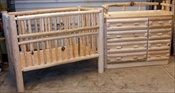 Convertible Log Crib Nursery Set