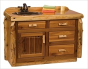 Custom Log Sink/Cabinet Vanity