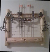 Log Archery Rack