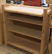 Log Bookcase