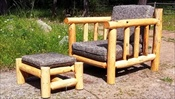 Log Deck Lounge Chair & Ottoman (with Cushions)