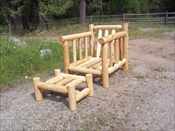 Log Deck Lounge Chair & Ottoman (no Cushions)