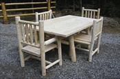 Log Dining Room Set (without Bench)