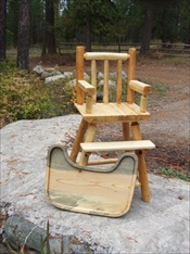 Log High Chair and Tray