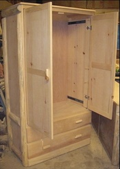 Log Pocket Door Armoire