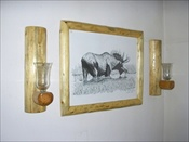 Log Sconces (without Candles)