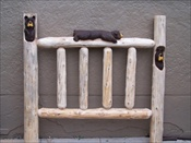 Twin Carved Bear Bed