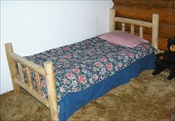 Twin Log Bed