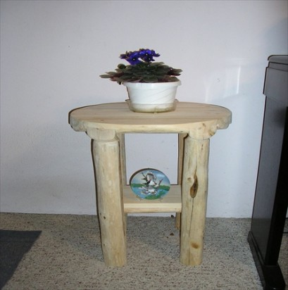 "18-22"" Round Log End Tables  (Set of 2)"