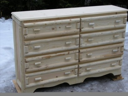 "8 Drawer Log Dresser (60"" long)"