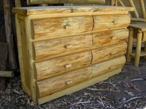 8 Drawer Log Dresser (Slab Top)