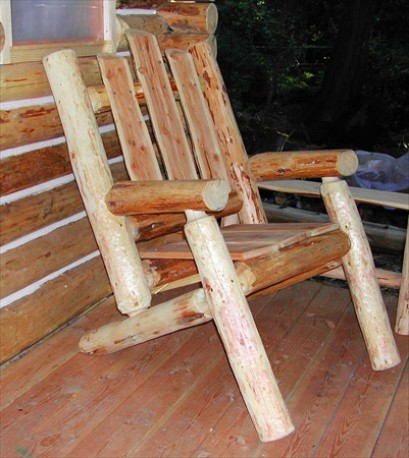 Adirondack Log Chair