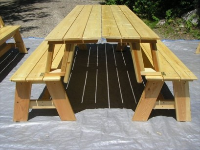 Convertible Log Picnic Bench Set (8')