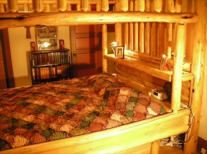 Custom Log Canopy Waterbed
