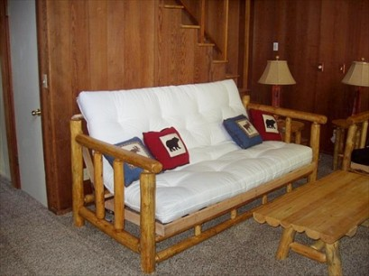 Full Log Futon (metal futon hinge)