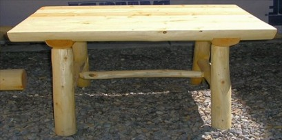 Log Buffet Serving Table