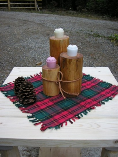Log Candle Holders (Style 1)