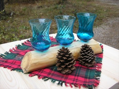 Log Candle Holders (Style 2)
