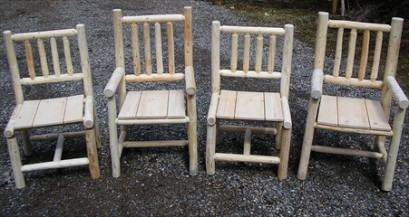 Log Dining Chairs (Set of 4)
