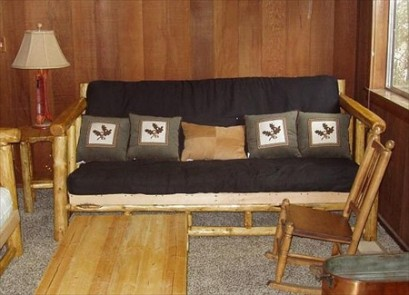 Log Full Size Futon Sofa