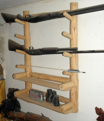 Log Gun Rack