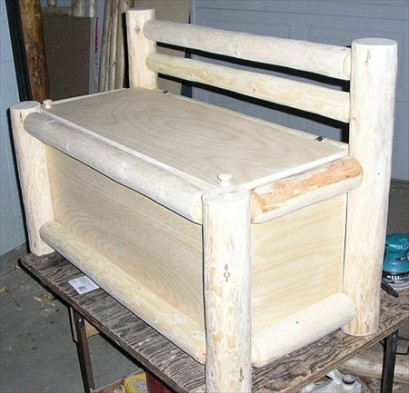 Log Hope Chest or Toy Box