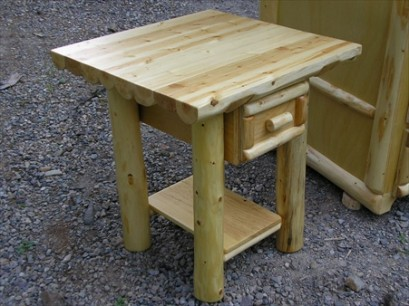 Log Nightstand (with Drawer)