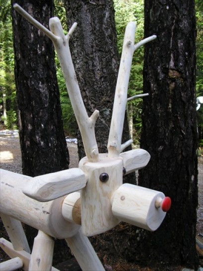 Log Rocking Reindeer or Horse